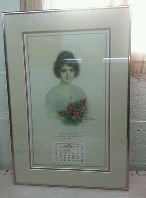Antique advertising calendar matthews & company estate insurance 1921