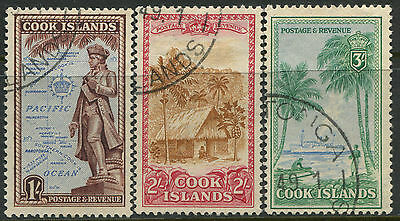 Cook Islands 1949 1/, 2/, 3/ CDS used