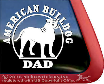American Bulldog Dad | High Quality All-Weather Vinyl Window Dog Decal Sticker