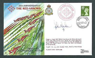 JS AC 34. 25th Anniversary of The Red Arrows. Flown/Pilot Signed