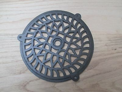 Traditional Round Victorian Vintage Cast Iron Air Vent Air Brick Grille Cover