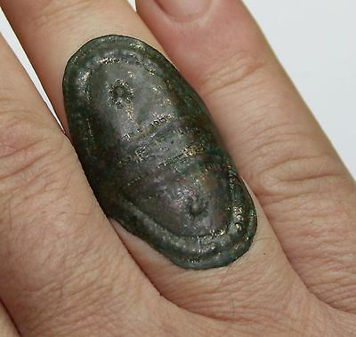 ancient Viking Twisted bronze ring. GREAT CONDITION. You can use.