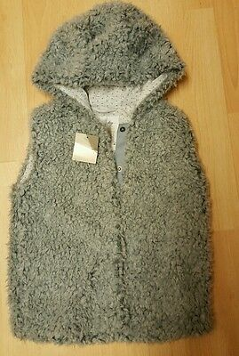 Bnwt Next  - girls grey gillet jacket with ears untold story range ❀ 4-5 years
