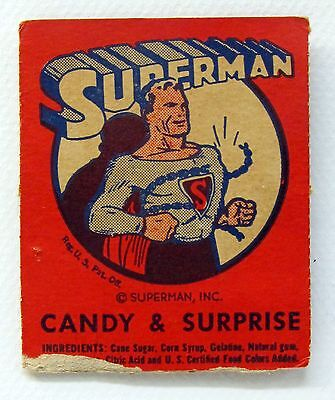 1940 SUPERMAN Leader Novelty Candy coupon card