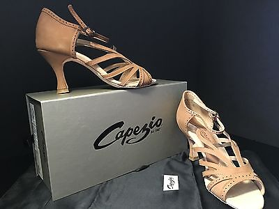 "Capezio Madison Ballroom Shoes Fawn 2.5"" Heel NWT"