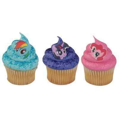 My Little Pony Characters SugarSoft® Edible Cupcake Decorations - 60 pcs