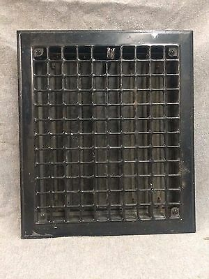 Vintage Stamped Steel Floor Heat Grate Register Vent Old Hardware 2142-16