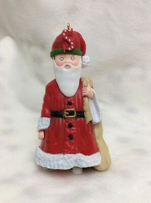 """Vintage 1986 Midwest Mary Engelbreit Pageant Ornament """"s"""" Santa"""