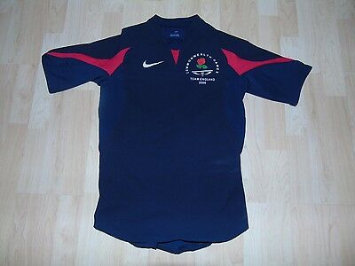 England 2006 Commonwealth Games Match Worn Shirt /jersey/maillot- (Leicester)