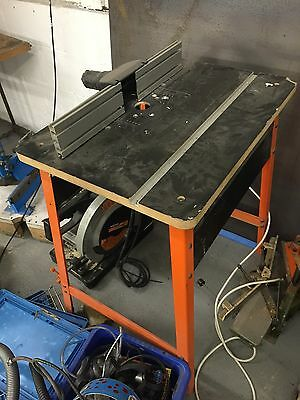 Router Table Set Up With Bits, Cmt, Trend, Orange