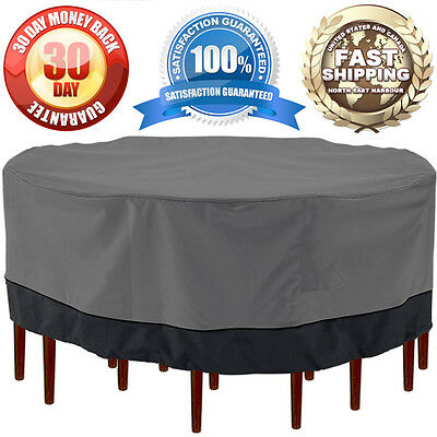 "Patio Garden Outdoor Furniture Winter Cover Large Round Square Table/Chair 94"" D"