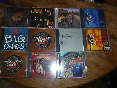 LOT OF  11 TOP ROCK AND METAL ARTISTS CDS AC/DC White Snake lynyrd Aerosmith