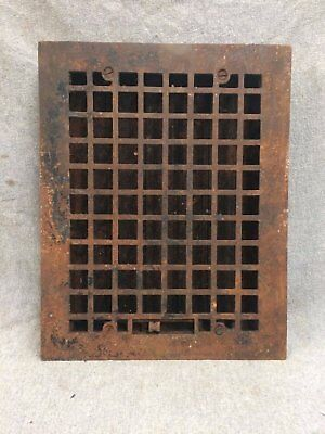 Vintage Cast Iron Stamped Steel Floor Heat Grate Register Vent Old 2146-16