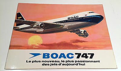 Boac Boeing 747 Large Launch Brochure 1969 B.o.a.c. French France