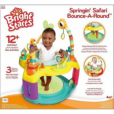 Bright Starts Swingin Safari Learning Center Exersaucer Exercise Baby Gym NEW