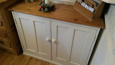 Handmade Painted Old Pine Cupboard Cabinet