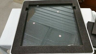 "QVI 18 x 18"" Glass Calibration Grid Plate"