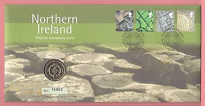 Great Britain Royal Mint 2001 Fdc £1 Coin Cover Northern Ireland