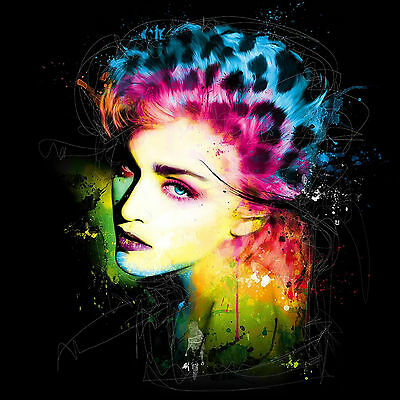 Madonna Music Singer Colourful Abstract WALL ART CANVAS FRAMED OR POSTER PRINT