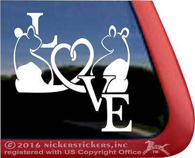 Hooded Rats Love Heart | High Quality All-Weather Vinyl Window Decal Sticker