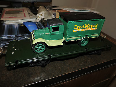 Vintage Standard Scale # Black Flat Bed & Fred Meyer Truck  Used No Box