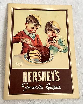 1937 Hershey's Favorite Recipes Booklet Vintage Chocolate Recipes