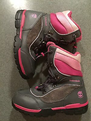 #506.  Timberland Girls Youth Winter Boots Size 3