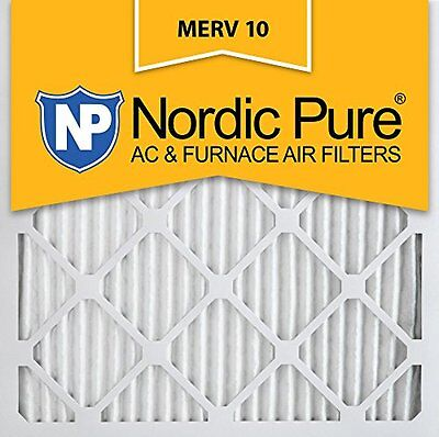Nordic Pure 19.5x19.5x1 MERV 10 Pleated AC Furnace Air Filter Furnace Filter