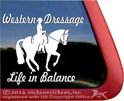 Western Dressage Life in Balance | High Quality Equestrian Horse Vinyl Decal