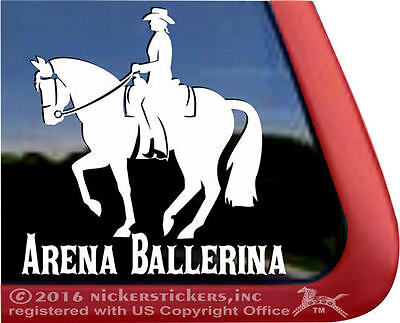Arena Ballerina | Western Dressage Vinyl Horse Window Truck Trailer Decal