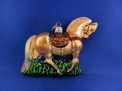 Fjord Horse Old World Christmas Ornament Glass Blown Tree Western Animal 12315