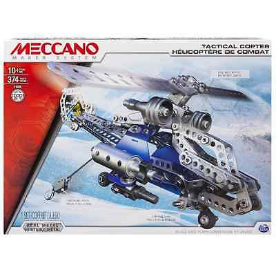 Meccano Tactical Copter 2 in 1 Model Toy Construction Set Brand New M6024816