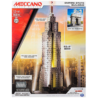 Meccano 2 in 1 Empire State Building Arc de Triomphe Construction Kit 6024902