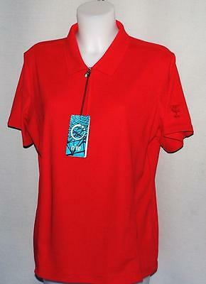 New Ladies NiVO Red polyester Cool Max golf polo shirt XL Toronto Golf Club