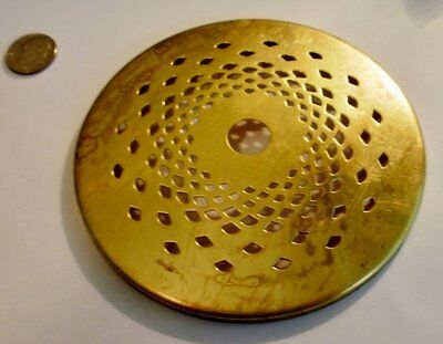 """Vented Brass Heat 4"""" Vase Cap for Stained Glass Lamp Shades and Repairs"""