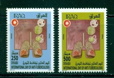 Iraq Scott #1821-1822 MNH Int'l Day Against Tuberculosis Medicine $$
