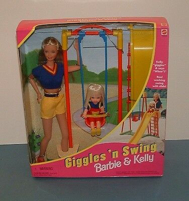 Barbie; Giggles 'n Swing Barbie & Kelly Dolls - 1998 - Mattel - Misb