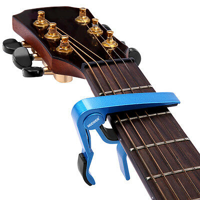 Neewer Single-handed Guitar Capo Quick Change Blue