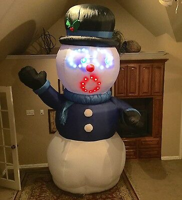 Gemmy Christmas Singing Snowman Inflatable Airblown