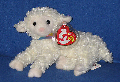 TY TENDER the LAMB BEANIE BABY - MINT with MINT TAGS