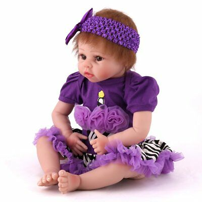 Handmade Reborn Baby Girl Dolls Realistic Doll Soft Vinyl Child Birthday Gift