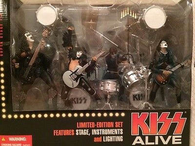 KISS ALIVE Super Stage Figures Limited Edition Set Stage, Instruments, Lighting