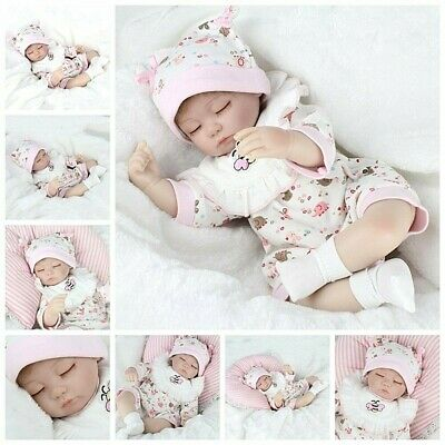 Lifelike Newborn Baby Floppy Head Realistic Reborn Baby Girl Doll +Clothes Kids