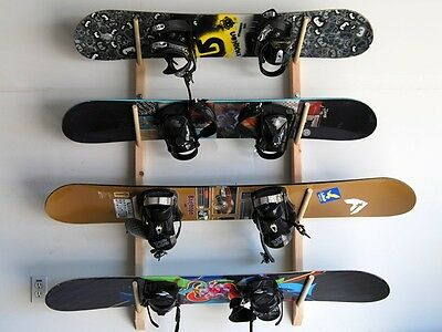 4 Snowboard Wall Storage Rack by Willow Heights Designs