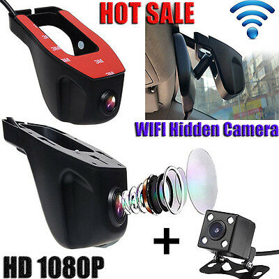 1080P HD Invisible Wifi voiture DVR Video Recorder Dash Cam caméra Night Vision*