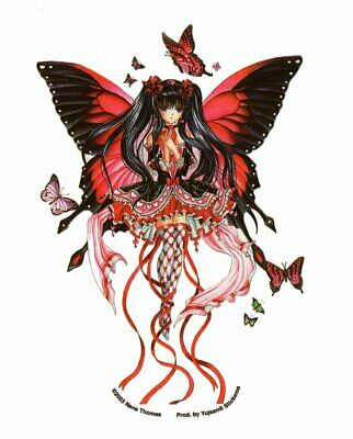 ANIME BUTTERFLY BALLET RED HEART FAIRY FAERIE VINYL Laptop STICKER/Boat DECAL