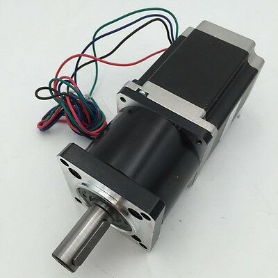 100:1 Planetary Geared Nema23 Stepper Motor L76MM 180Nm Output CNC Speed Reducer
