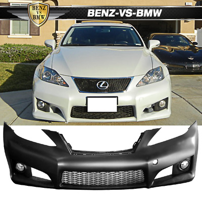 Fit 06-09 Lexus Is-Series IS250 PP Black Front Bumper Conversion Cover No PDC