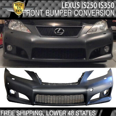 Fit 06-09 Lexus Is-Series IS250  PP Black Front Bumper Conversion Cover With PDC