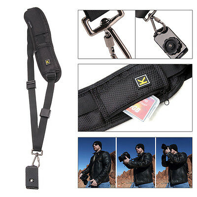 Camera Single Shoulder Black Belt Strap Sling SLR DSLR Cameras Canon Sony Nikon